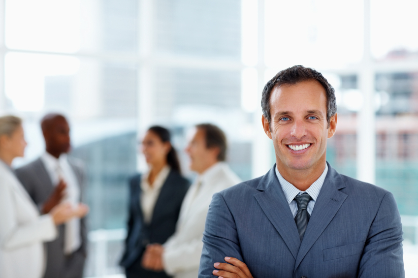 Businessman smiling