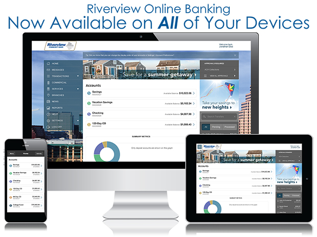Riverview Online Banking on all your Devices