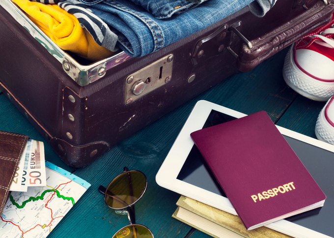 Suitcase and Travel Items