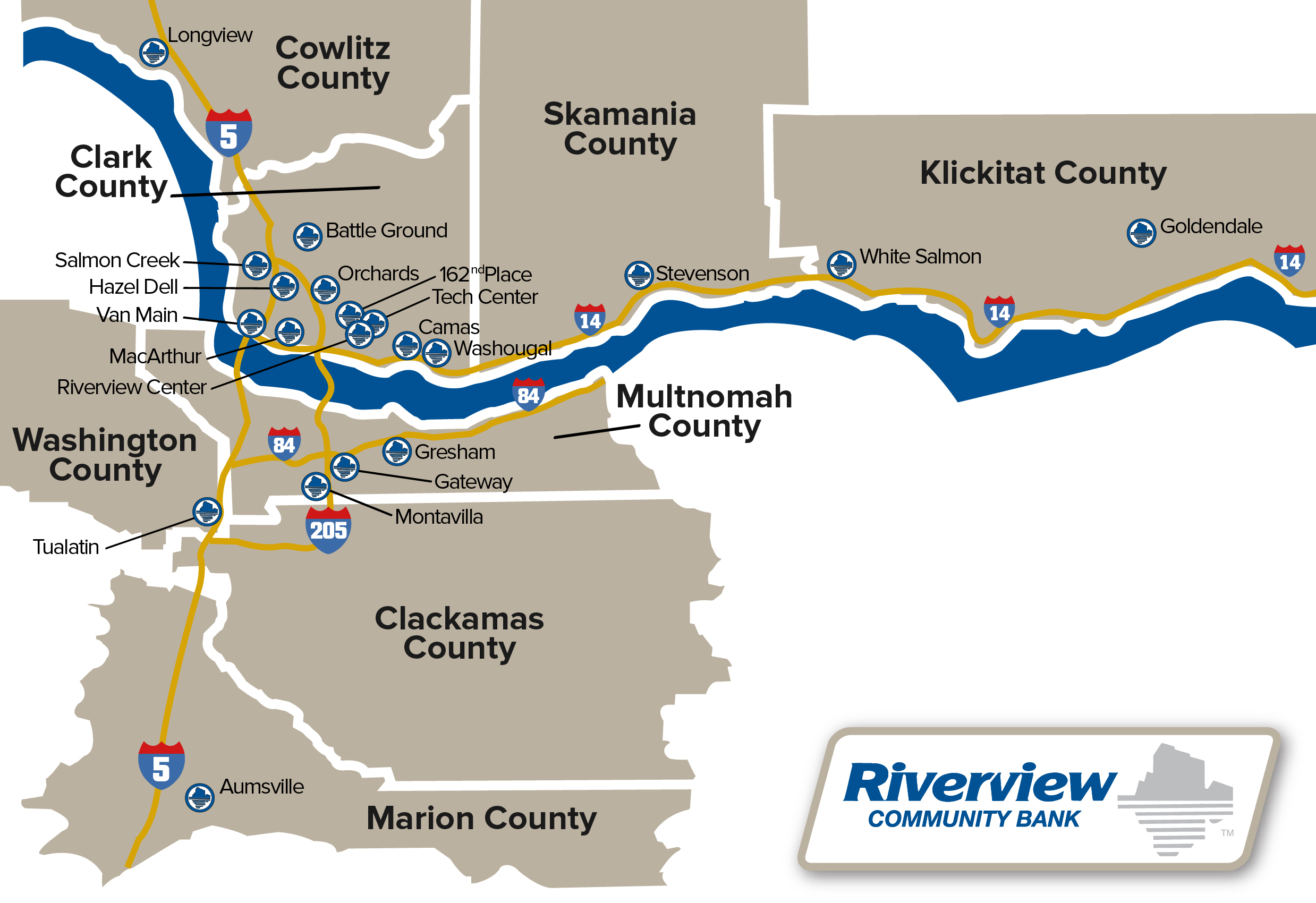 Contact Us Riverview Community Bank - Us bank branch locations map